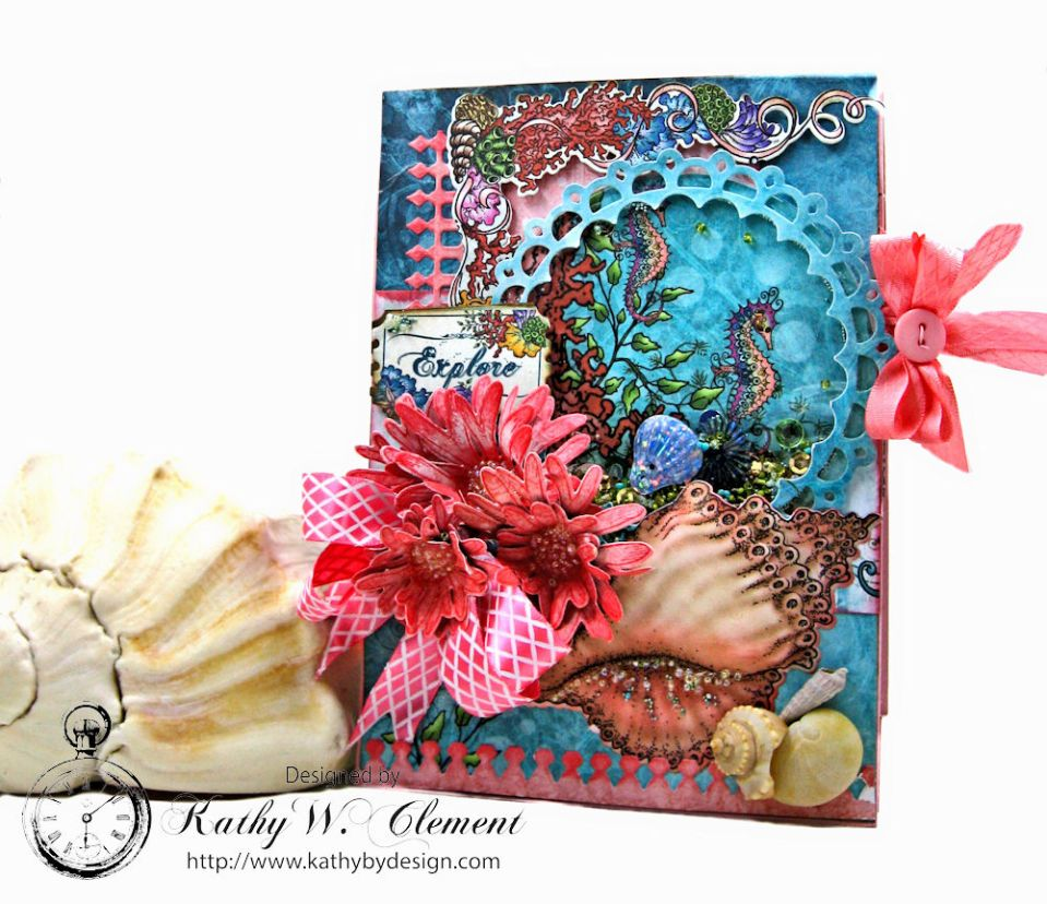 Under the Sea Seashell Shaker Card by Kathy Clement Photo 1