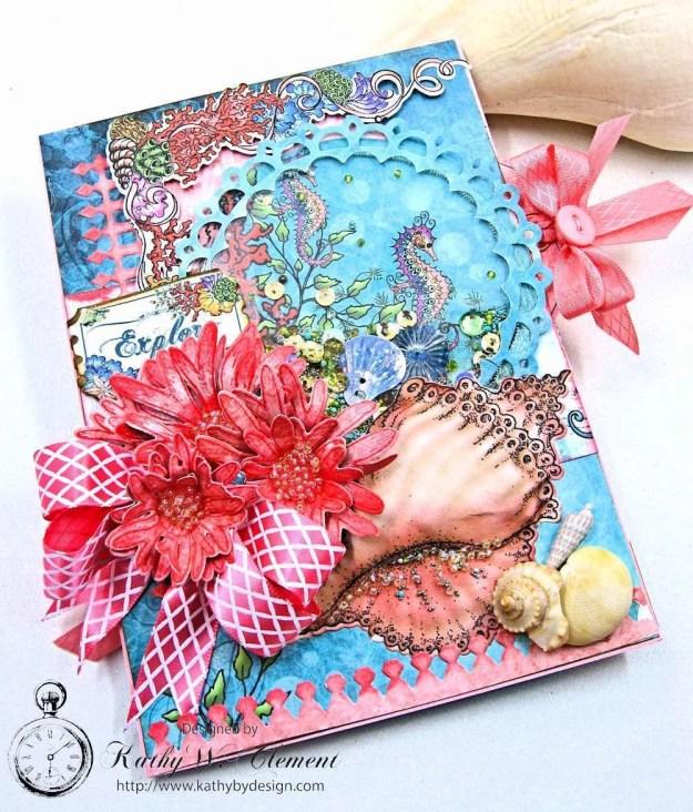 Heartfelt Creations Under the Sea Seashell Shaker Card Photo 4