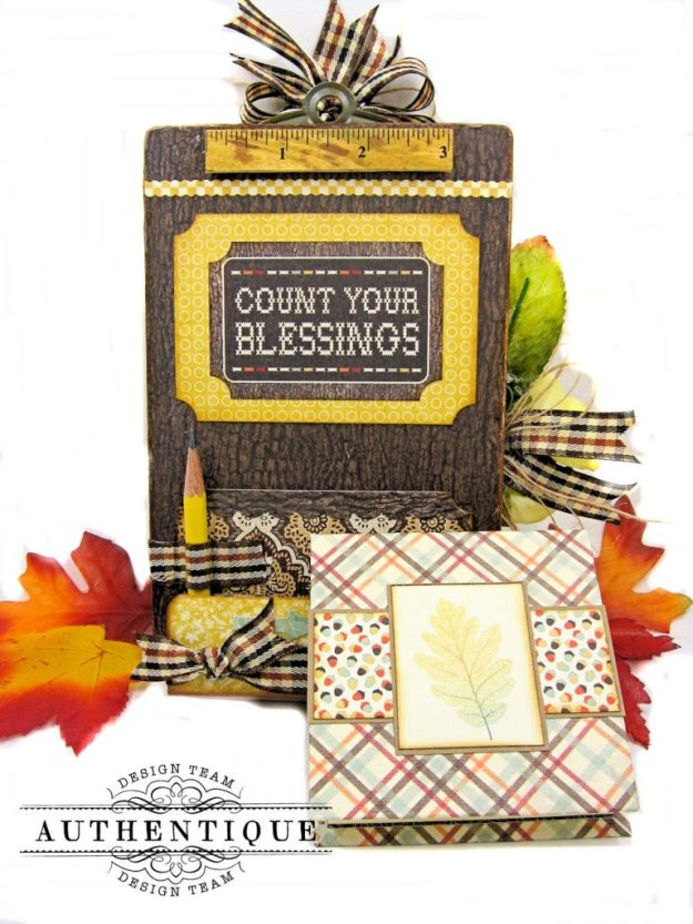 Back to School Mini Message Center Bountiful by Kathy Clement Product by Authentique Photo 4