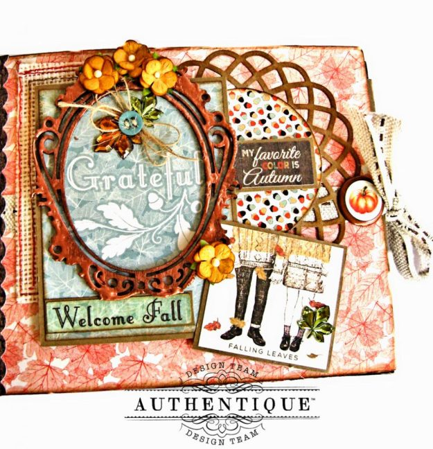 Authentique Bountiful Fall Home Decor Tutorial by Kathy Clement Photo 8