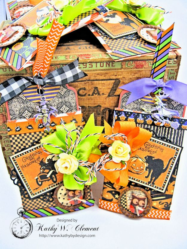 Butterfinger Halloween Treat Bags by Kathy Clement for RRR September 2017 Blog Hop Photo 2