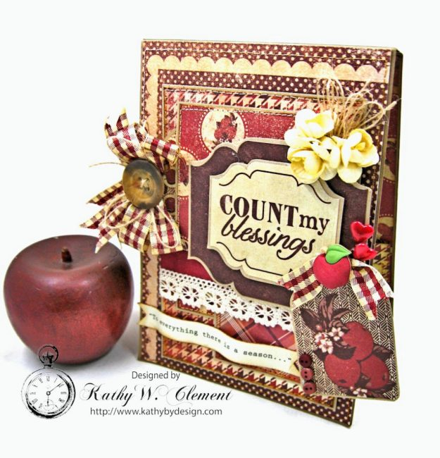 Counting My Blessings Fall Folio by Kathy Clement for Really Reasonable Ribbon Product by Authentique Photo 2