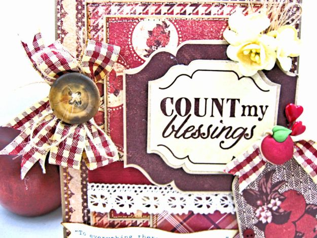 Counting My Blessings Fall Folio by Kathy Clement for Really Reasonable Ribbon Product by Authentique Photo 5