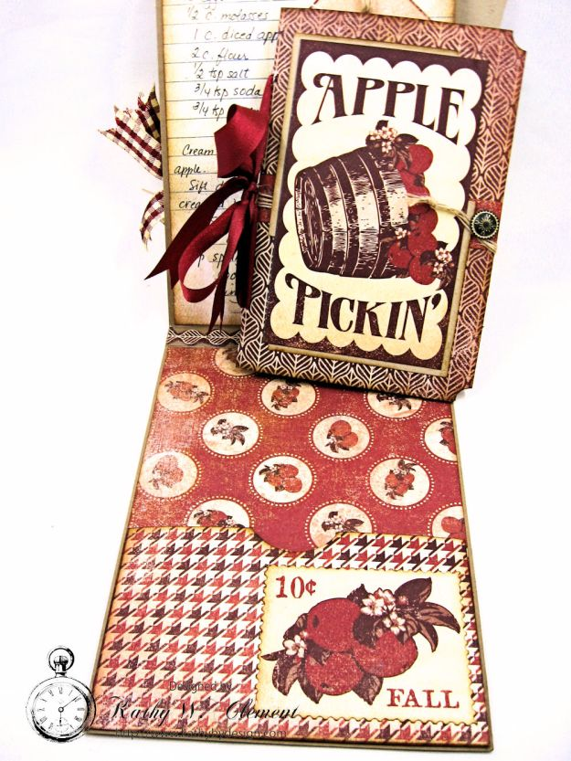 Counting My Blessings Fall Folio by Kathy Clement for Really Reasonable Ribbon Product by Authentique Photo 9