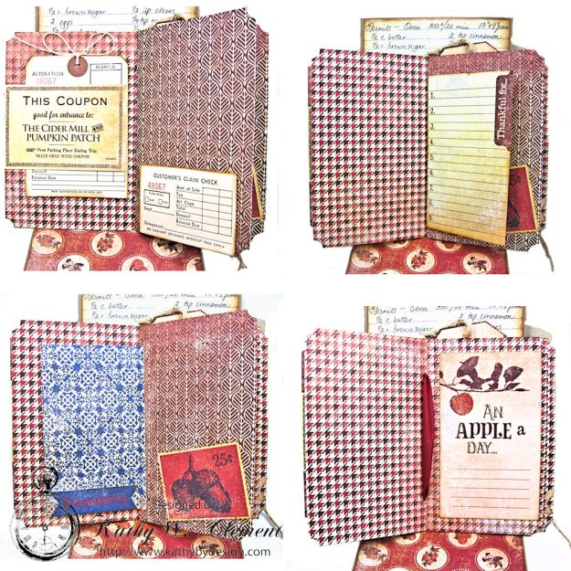 Counting My Blessings Fall Folio by Kathy Clement for Really Reasonable Ribbon Product by Authentique Photo 10