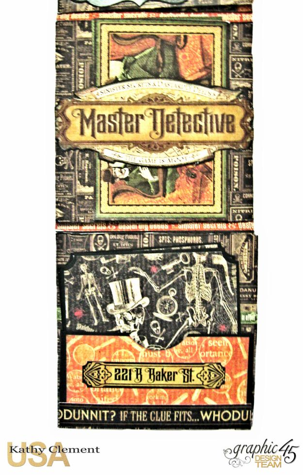 Graphic 45 Master Detective Photo Wallet Tutorial Master Detective by Kathy Clement Product by Graphic 45 Photo 13
