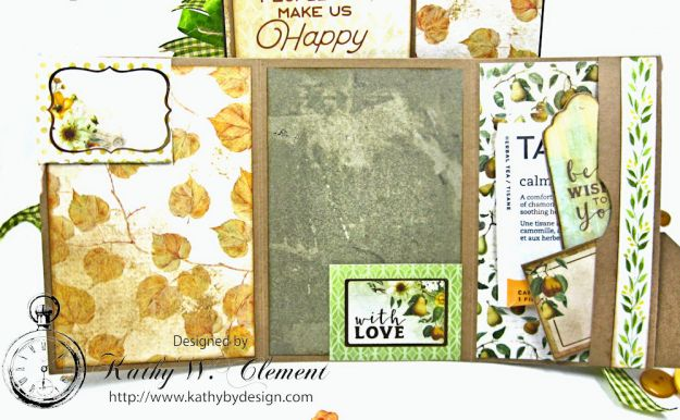 Golden Grove Botanical Card Folio by Kathy Clement for Really Reasonable Ribbon Photo 10