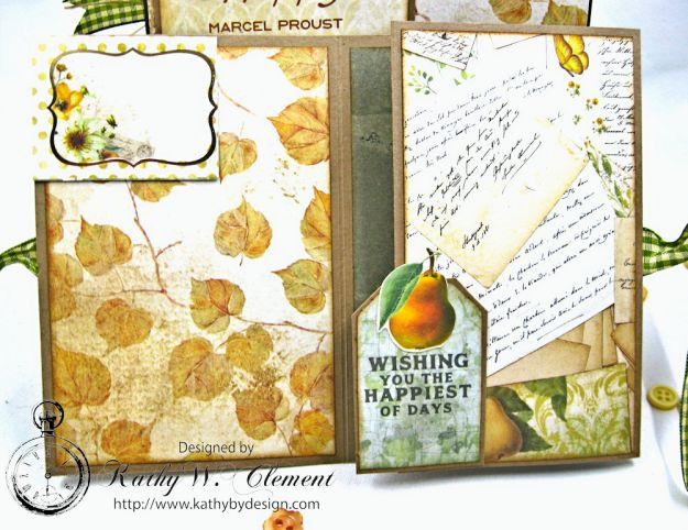Golden Grove Botanical Card Folio by Kathy Clement for Really Reasonable Ribbon Photo 9