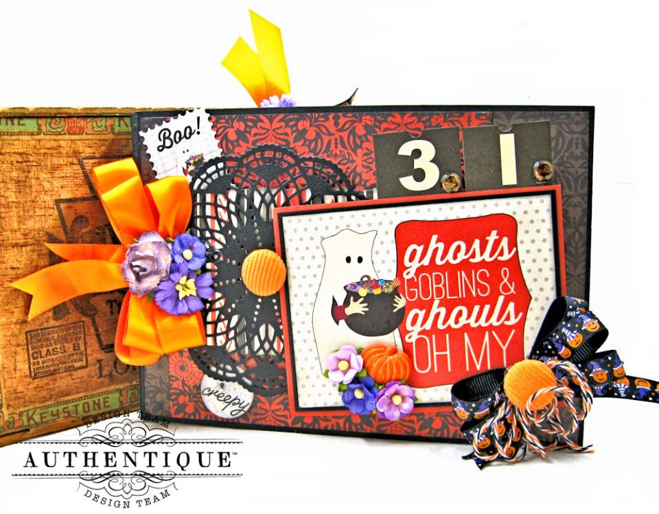 Authentique Bewitched Halloween Card Folio by Kathy Clement Photo 1