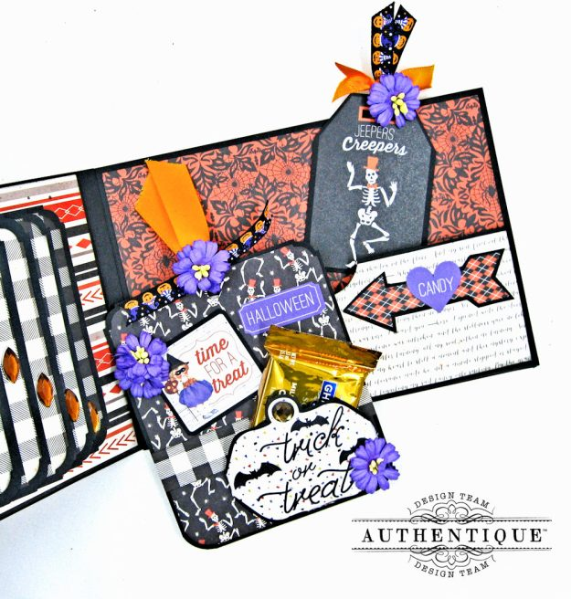 Authentique Bewitched Halloween Card Folio by Kathy Clement Photo 9