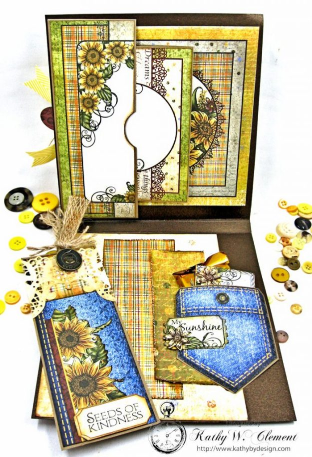 Heartfelt Creations Classic Sunflower Birthday Card Folio by Kathy Clement Photo 4