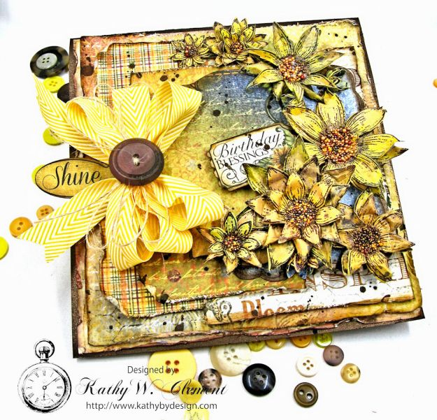 Heartfelt Creations Classic Sunflower Birthday Card Folio by Kathy Clement Photo 3