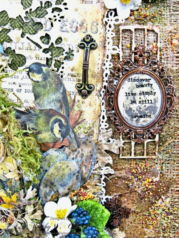 Home Sweet Forest Home Mixed Media Canvas by Kathy Clement for Frilly and Funkie Photo 6