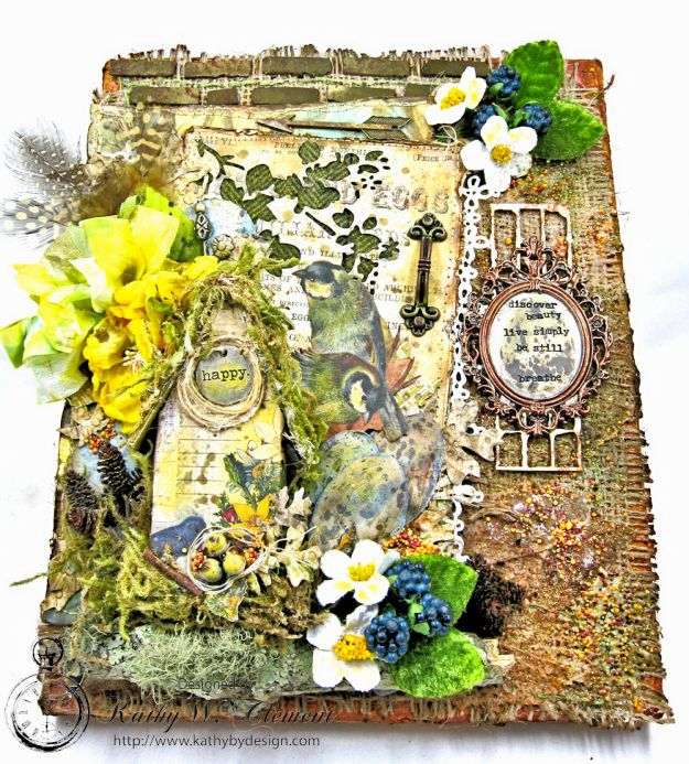 Home Sweet Forest Home Mixed Media Canvas by Kathy Clement for Frilly and Funkie Photo 4