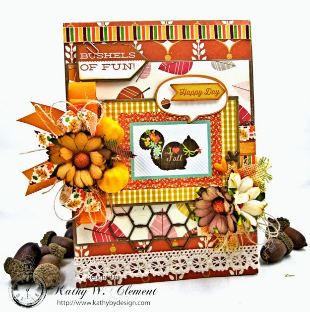 Autumn Love All Occasion Greeting Card by Kathy Clement for Really Reasonable Ribbon Photo 1