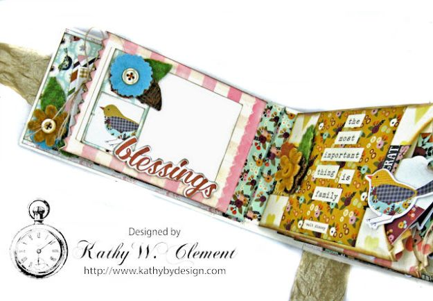 Grateful Paper Bag Envelope Mini Album by Kathy Clement Product by Tammy Tutterow Designs Photo 8
