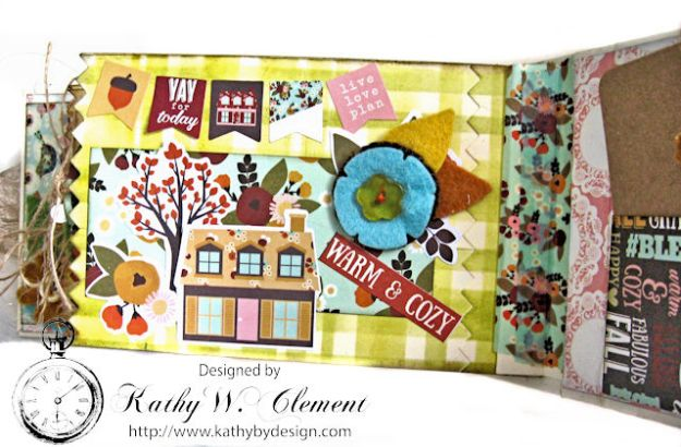 Grateful Paper Bag Envelope Mini Album by Kathy Clement Product by Tammy Tutterow Designs Photo 14