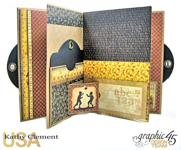 @SimplyG45 Autumn Time 45 minute folio video tutorial A Place in Time ABC Primer by Kathy Clement Product by Graphic 45 Photo 2