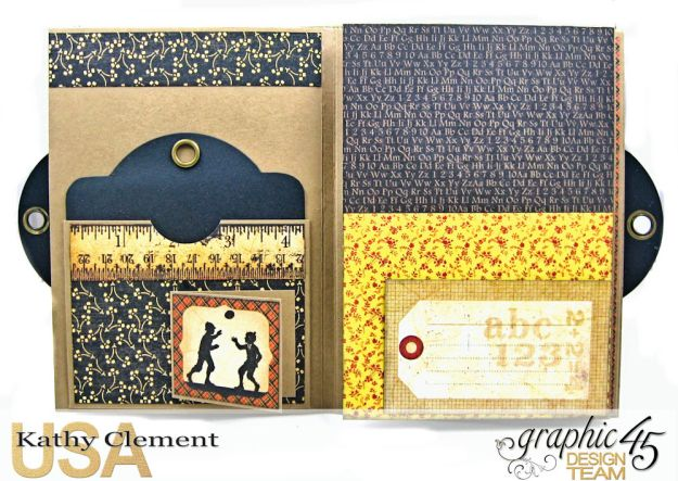 @SimplyG45 Autumn Time 45 minute folio video tutorial A Place in Time ABC Primer by Kathy Clement Product by Graphic 45 Photo 7
