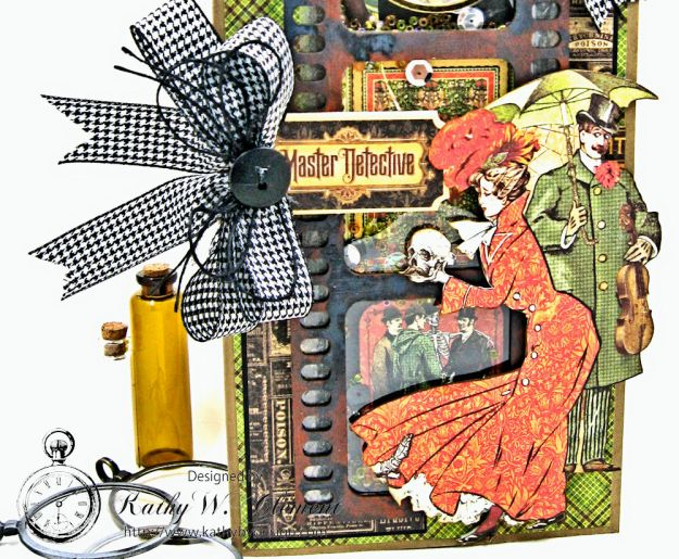 Sinister Secrets Master Detective Shaker Card Tutorial by Kathy Clement for Really Reasonable Ribbon Photo 3