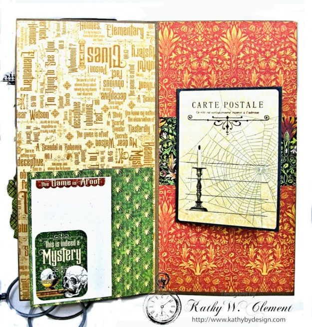 Sinister Secrets Master Detective Shaker Card Tutorial by Kathy Clement for Really Reasonable Ribbon Photo 5