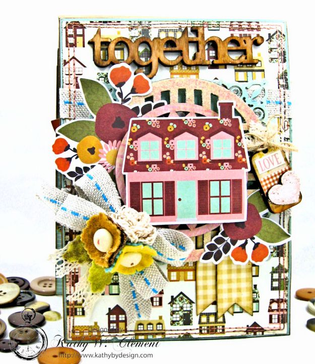 Together Card Folio Vintage Blessings by Kathy Clement for Really Reasonable Ribbon Product by Simple Stories Photo 1