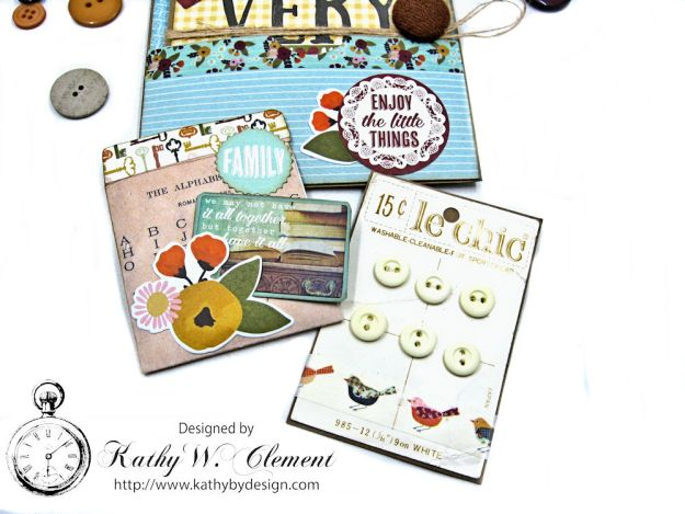 Together Card Folio Vintage Blessings by Kathy Clement for Really Reasonable Ribbon Product by Simple Stories Photo 6