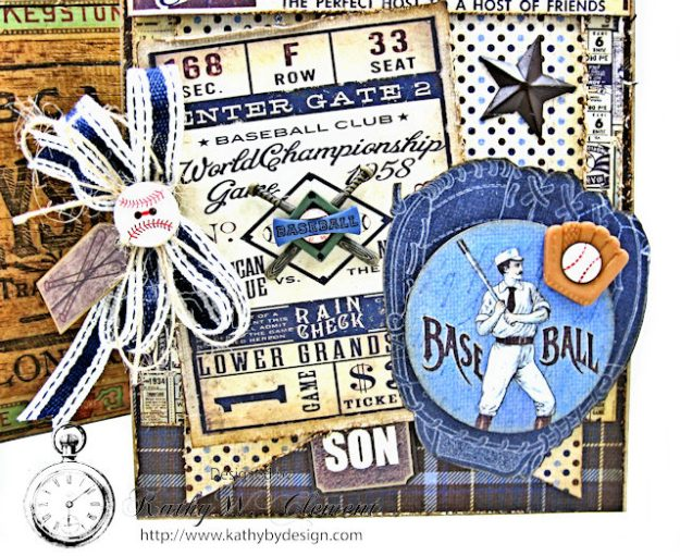 Masculine Baseball themed birthday card Rugged by Kathy Clement Product by Authentique Photo 3