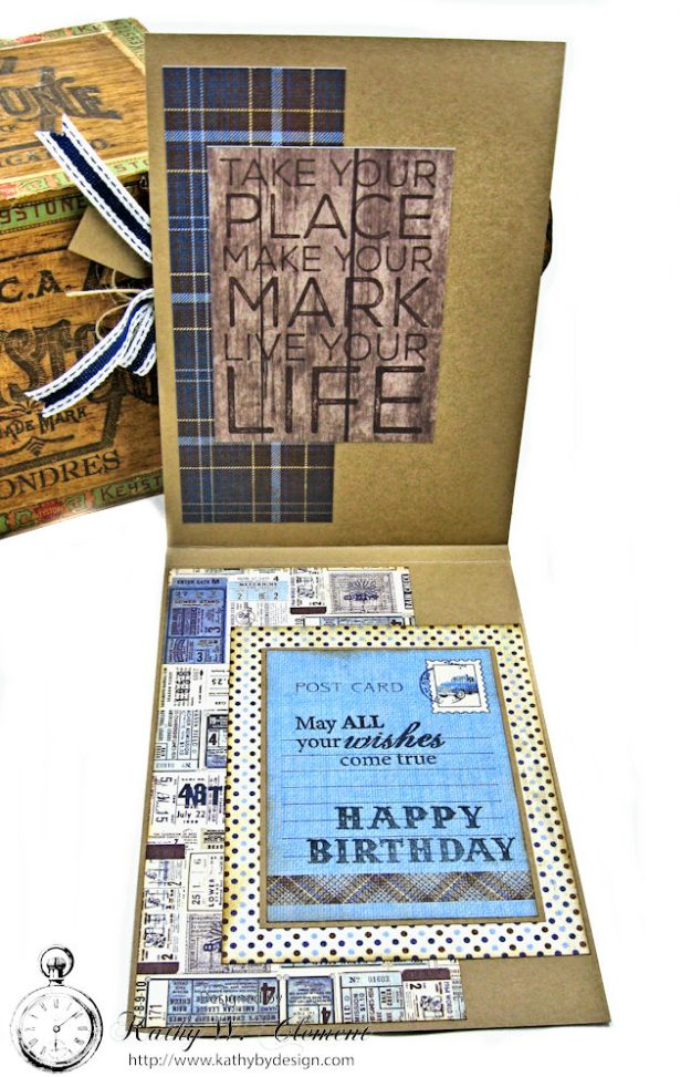 Masculine Baseball themed birthday card Rugged by Kathy Clement Product by Authentique Photo 4