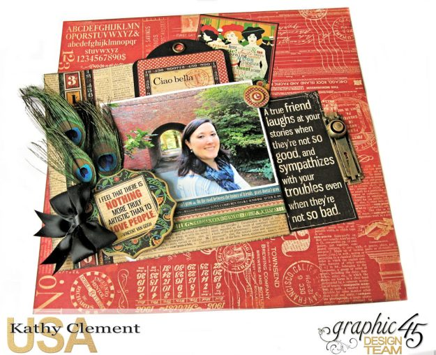 Ciao Bella Layout Tutorial Typography by Kathy Clement Product by Graphic 45 Photo 2