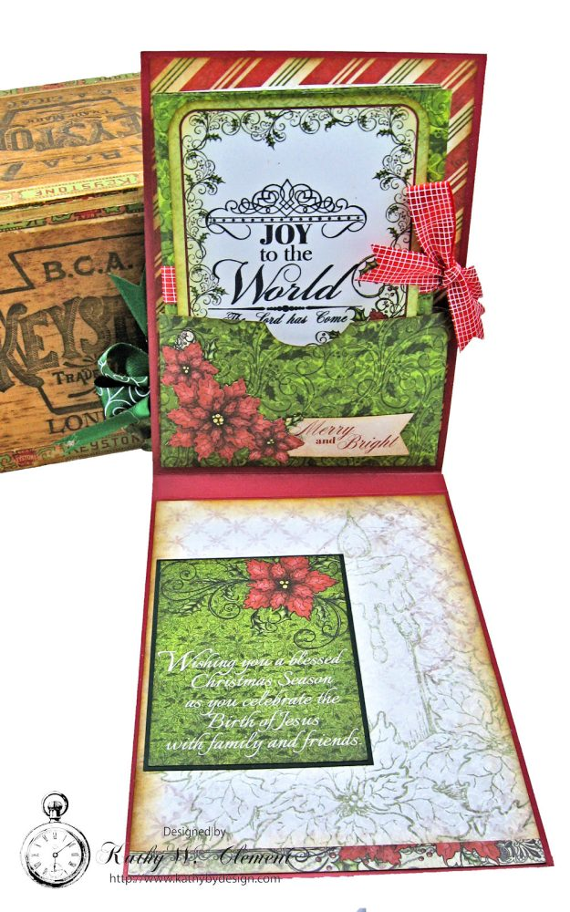 Christmas Joy Card Folio Sparkling Poinsettia by Kathy Clement Product by Heartfelt Creations Photo 5