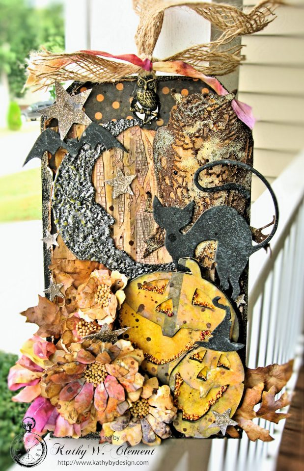 Halloween Night Etcetera Tag Amber Moon by Kathy Clement for Frilly and Funkie Product by Prima Photo 1