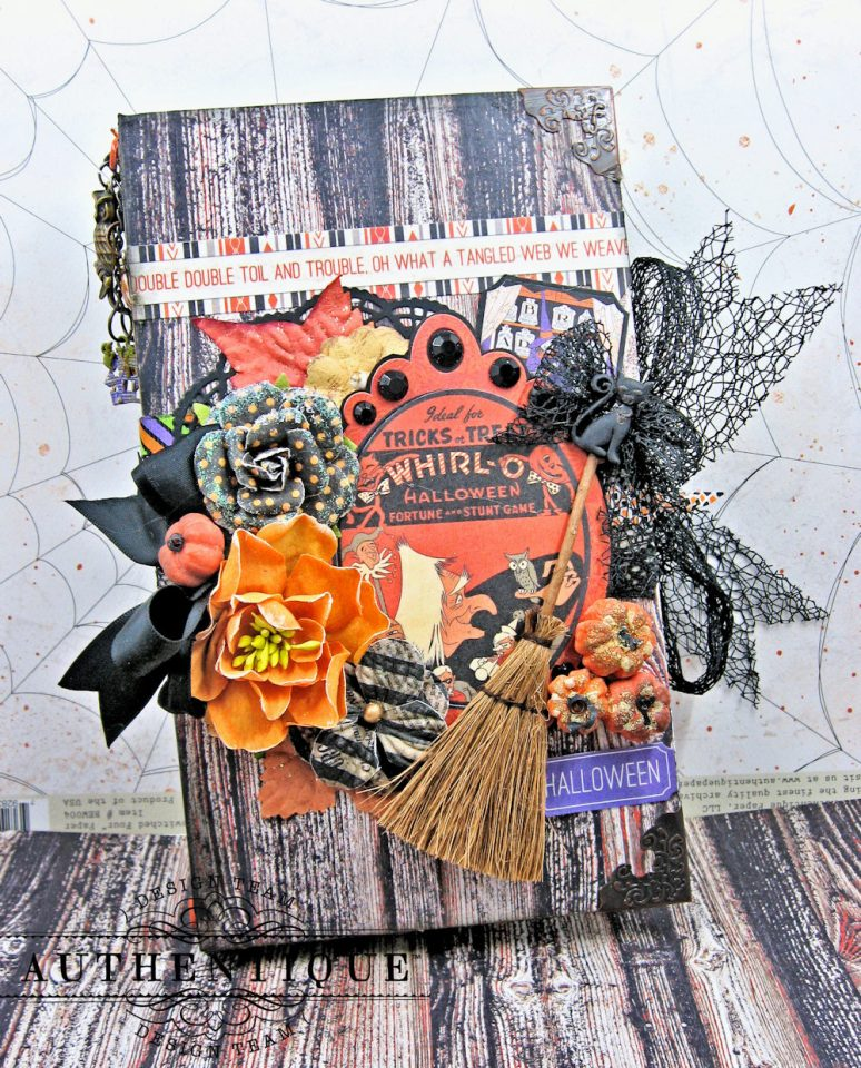 Authentique Bewitched Halloween Waterfall Folio Tutorial Bewitched by Kathy Clement Product by Authentique Photo 1