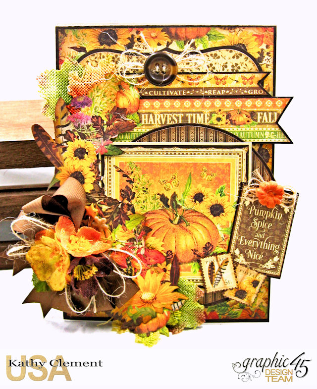 The Thankful Season Pumpkin Spice Card folio Seasons by Kathy Clement Product by Graphic 45 Photo 1