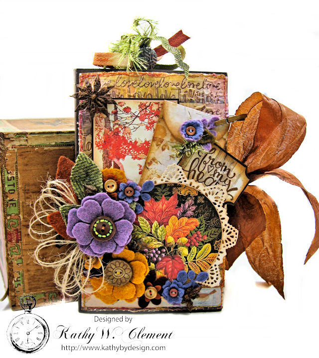 Prima Amber Moon Thankful Heart Folio by Kathy Clement for Tammy Tutterow Designs Product by Spellbinders