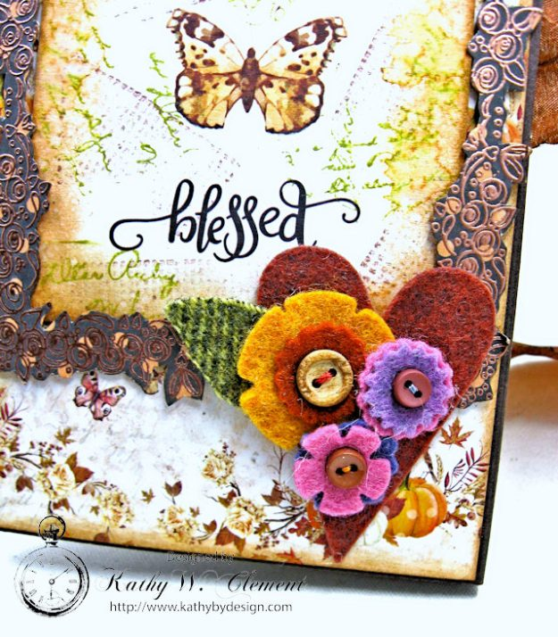 Prima Amber Moon Thankful Heart Folio by Kathy Clement for Tammy Tutterow Designs Product by Spellbinders Photo 9