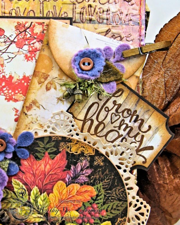 Prima Amber Moon Thankful Heart Folio by Kathy Clement for Tammy Tutterow Designs Product by Spellbinders Photo 6