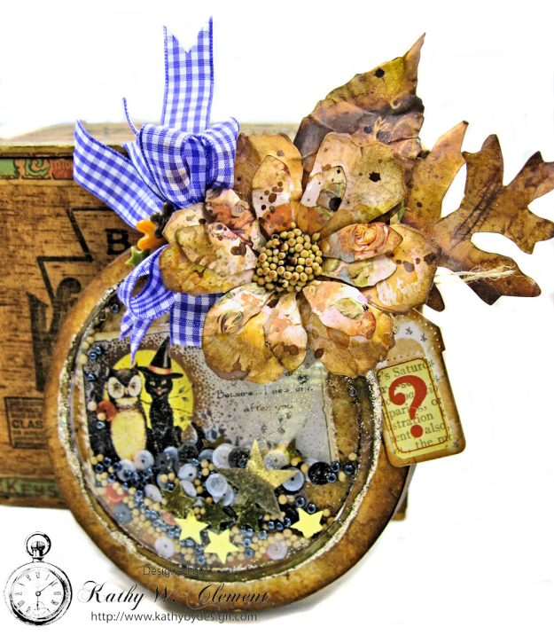 You've Been Booed Halloween Shaker Box by Kathy Clement for Frilly and Funkie Photo 2