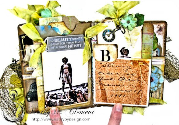 Faded Photos Passport Album for Frilly and Funkie Timeworn Challenge by Kathy Clement Photo 8
