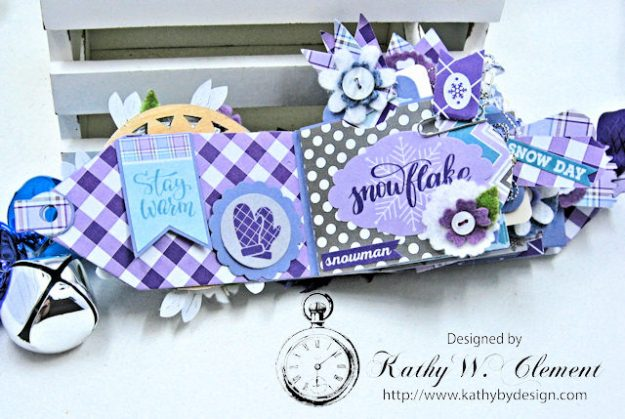Frosty Winter Mini Tag Album Tutorial by Kathy Clement for Tammy Tutterow Designs Product by Spellbinders and Authentique Photo 6