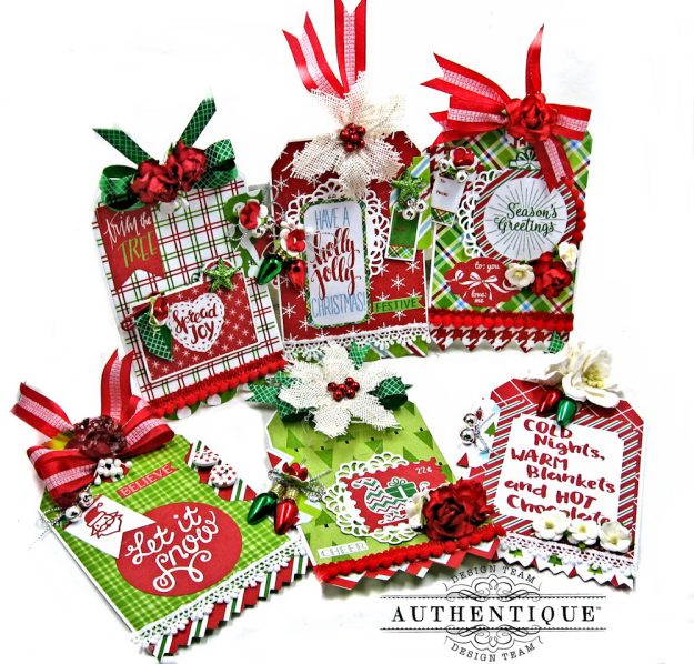 Authentique Jolly Christmas Gift Tags by Kathy Clement Photo 1