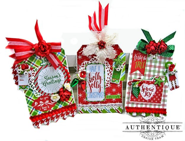 Authentique Jolly Christmas Gift Tags by Kathy Clement Photo 2
