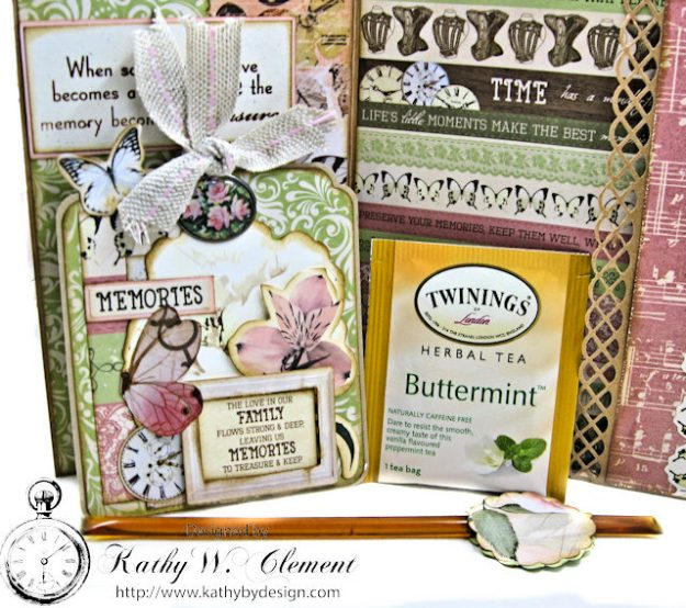 Memories Shabby Chic Sympathy Card by Kathy Clement for Really Reasonable Ribbon Photo 4
