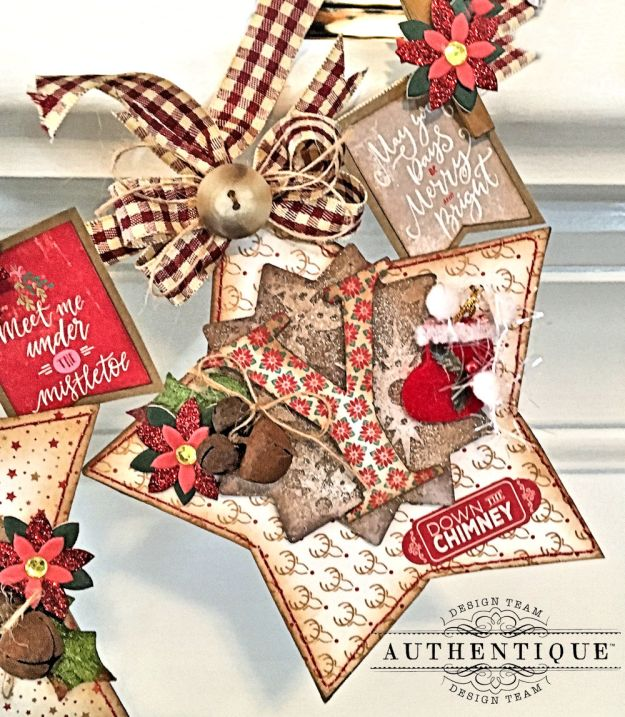 Merry Christmas Star Banner Colorful Christmas by Kathy Clement Product by Authentique Photo 6