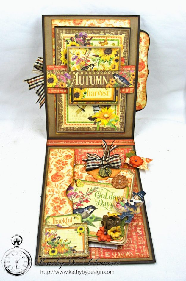 Thankful Season Card Folio Seasons by Kathy Clement for Frilly and Funkie Give Thanks Challenge Product by Graphic 45 Photo 5