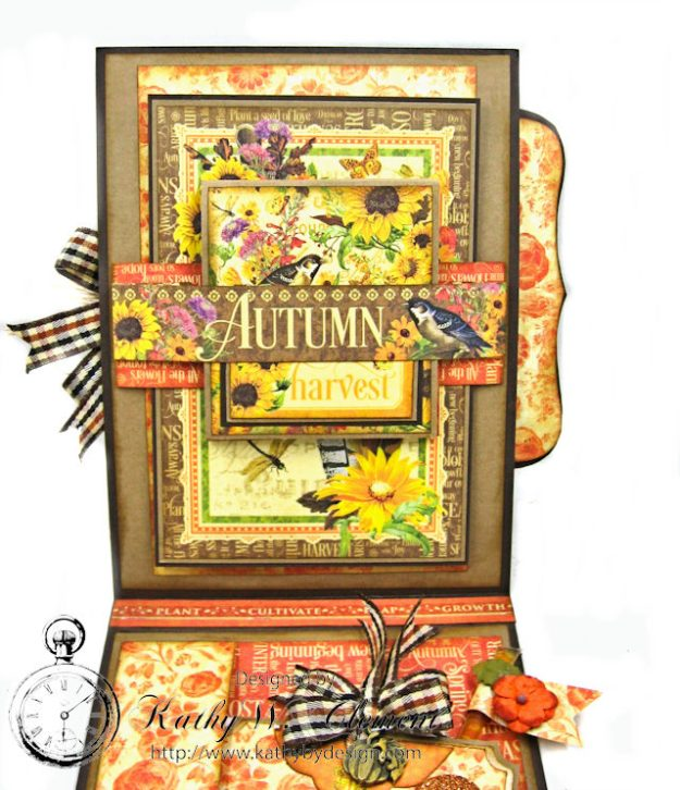 Thankful Season Card Folio Seasons by Kathy Clement for Frilly and Funkie Give Thanks Challenge Product by Graphic 45 Photo 6