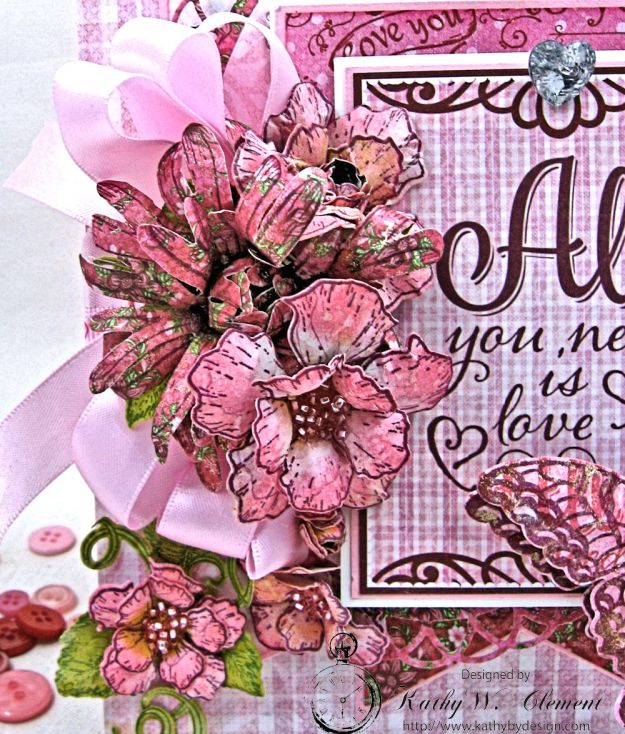 All You Need is Love Valentine and Tag Heartfelt Love by Kathy Clement Product by Heartfelt Creations Photo 2