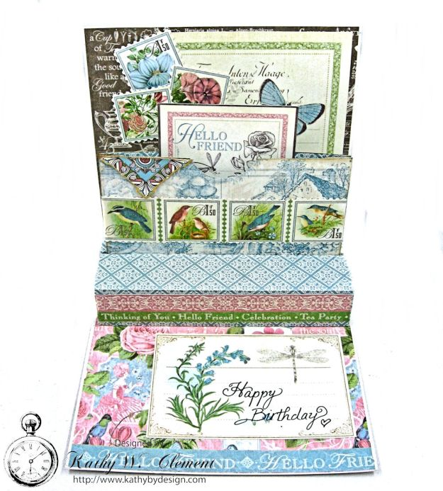 Botanical Tea Pop Up Birthday Card Botanical Tea by Kathy Clement Product by Graphic 45 Photo 4