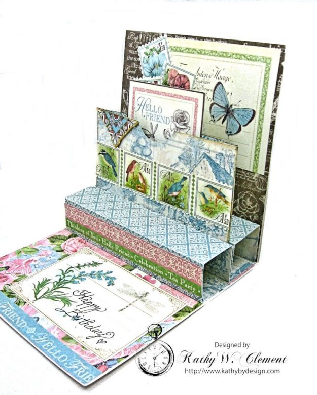 Botanical Tea Pop Up Birthday Card Botanical Tea by Kathy Clement Product by Graphic 45 Photo 3
