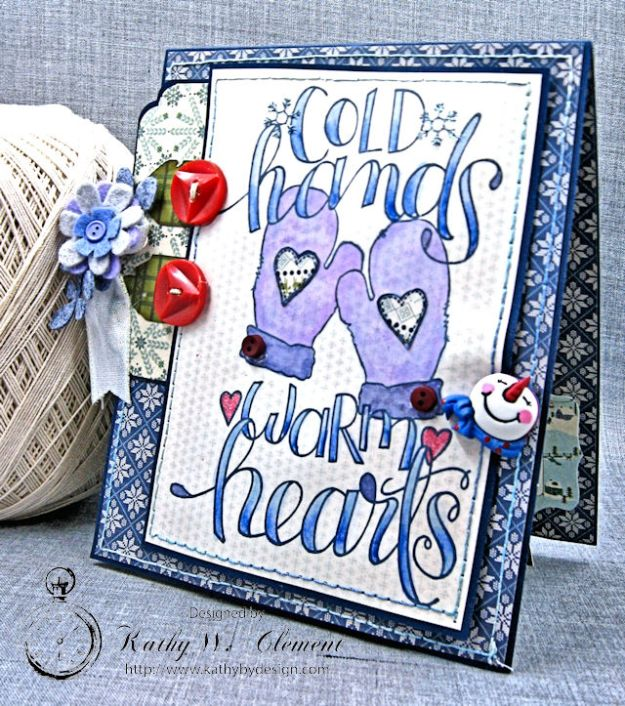 Cold Hands Warm Heart Twist and Pop Up Card Tutorial Cold Hands by Kathy Clement Product by Tammy Tutterow Designs Photo 2
